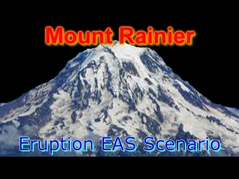 Mount Rainier Eruption Scenario (Part 1) Travel Video