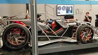 Custom slingshot called the Sling-ray dyno pull @fasterproms