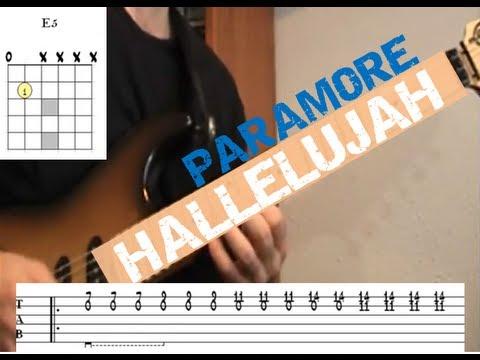 Hallelujah Paramore Guitar Lesson Youtube