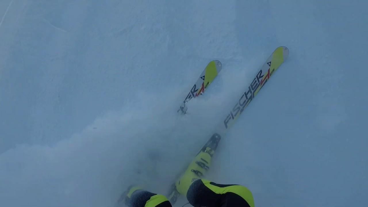 Горные лыжи, слалом гигант. Тренировка