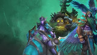 Playing Warcraft III Reforged Night Elves!