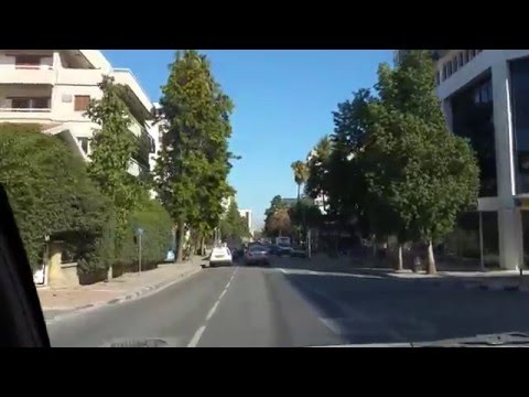 driving from strovolos to old part of nicosia, with my cousin