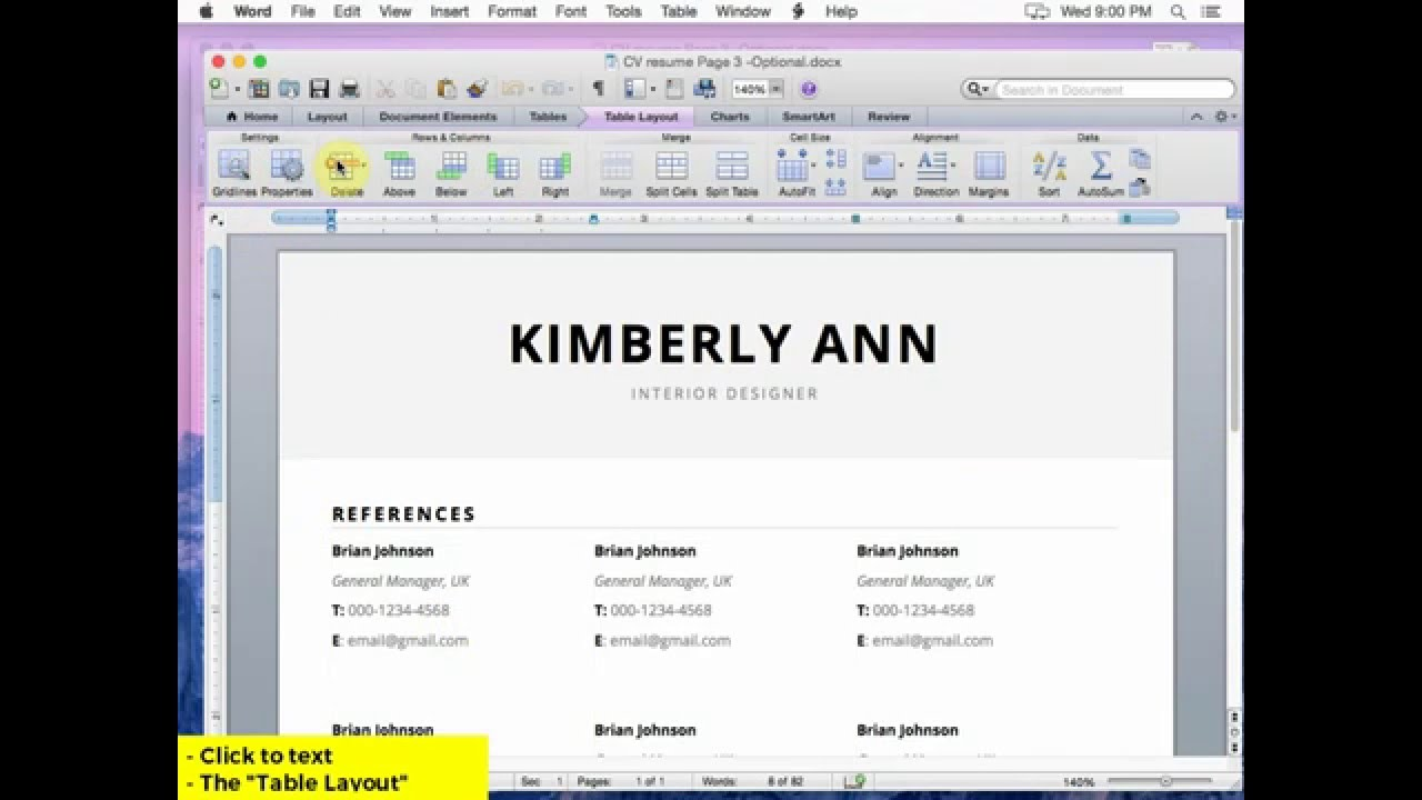 how to customize resume template mac version by cityhousedesign youtube