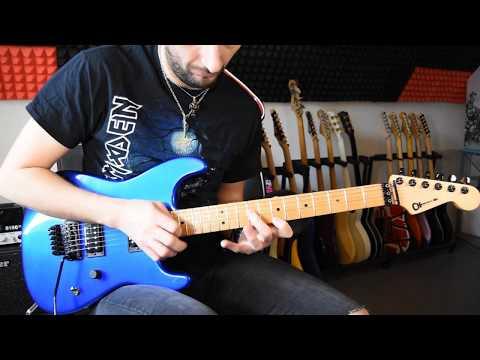 Melodic hard rock / shred guitar solo improvisation