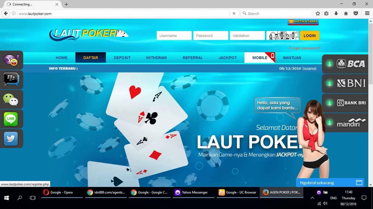 Cara Mendaftar Id Poker Online Di Situs Laut Poker Youtube