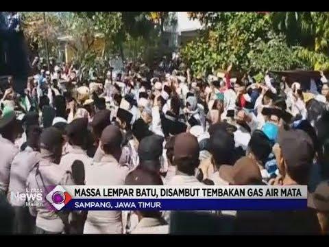 Massa Pendukung Cabup Sampang Gelar Aksi Demo Untuk Protes Hasil Pemilukada - LIM 09/07