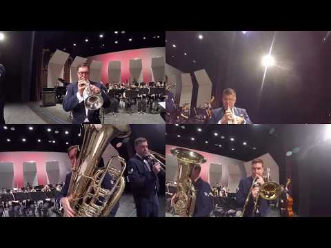 """The Travis Brass Quintet performs Mvt.1 """"Ragtime Redux"""" from """"New York Cityscape"""""""