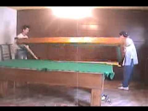 Armado de mesa de billar youtube - Mesa billar 8 pies ...