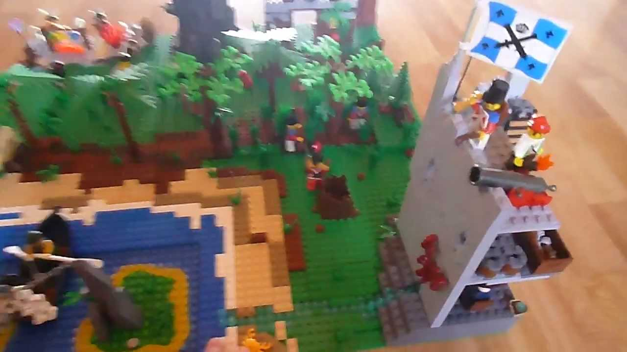 Mon moc lego pirate pour le concour de lego go youtube - Ile pirate lego ...