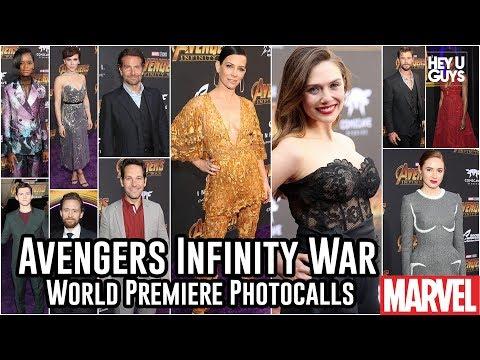 Avengers Infinity War World Premiere Photocalls