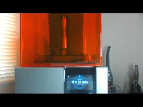 Live 3D Printing with Formlabs Form 2 Printer