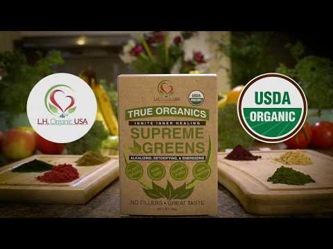 Organic SURPEME GREENS meal replacement supplement