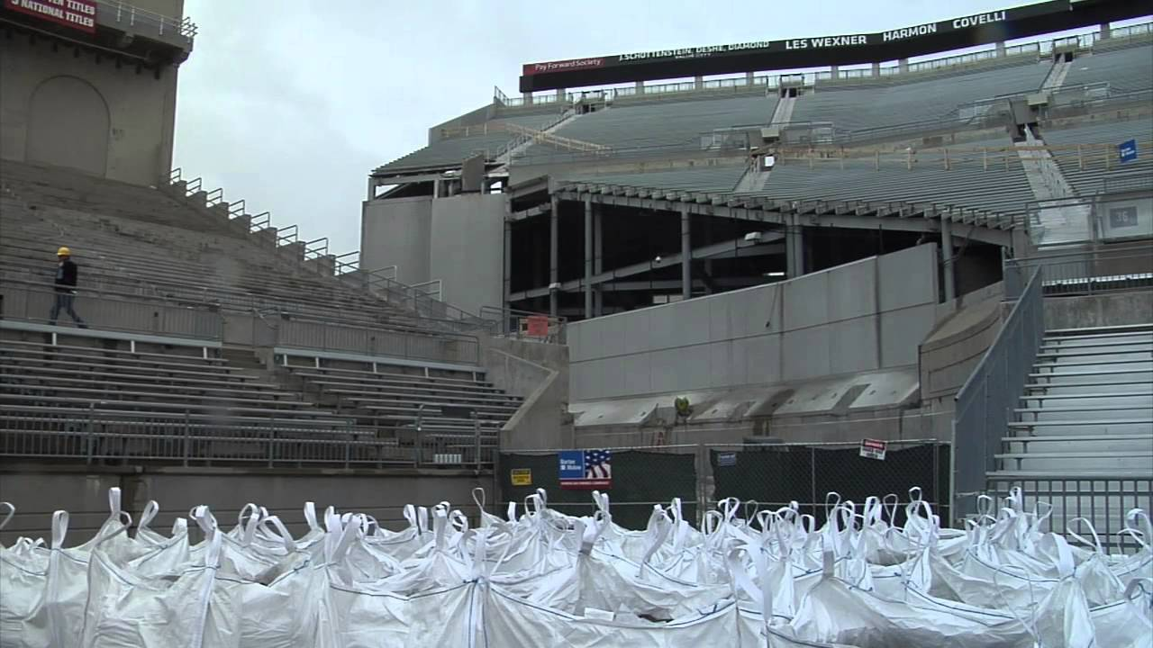 ohio stadium undergoes another renovation youtube