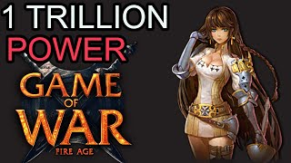 Game of War Fire Age - Over 1 Trillion POWER: The GAUNTLET + One Click CORE Crafting + MORE!