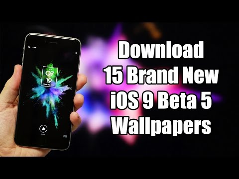 Download 15 Brand New iOS 9 Beta 5 Wallpapers
