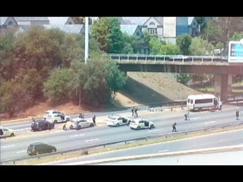 Eyewitness catches M1 shootout on camera