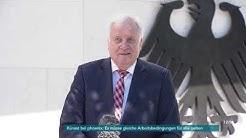 Horst Seehofer zum Kabinettsausschuss Rechtsextremismus am 20.05.20