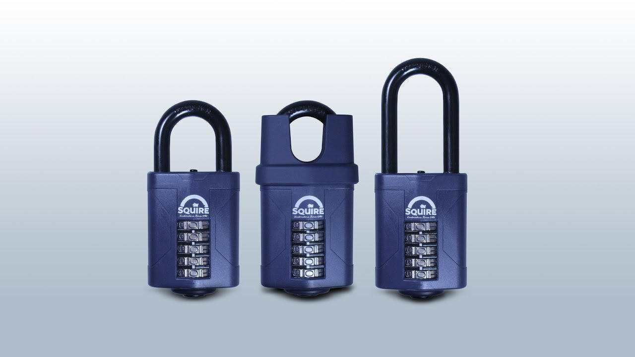 Squire Locks CP40 Heavy Duty Recodable 4 Wheel Combination Padlock Black 40mm