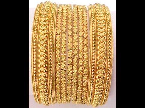 Gold Bangle Designs - YouTube