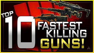 Top 10 Fastest Killing Guns in Black Ops 4 Multiplayer!