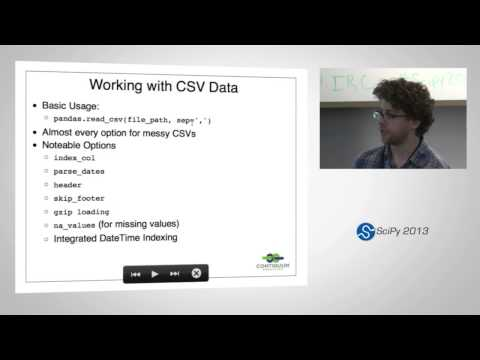 Data Processing with Python, SciPy2013 Tutorial, Part 1 of 3