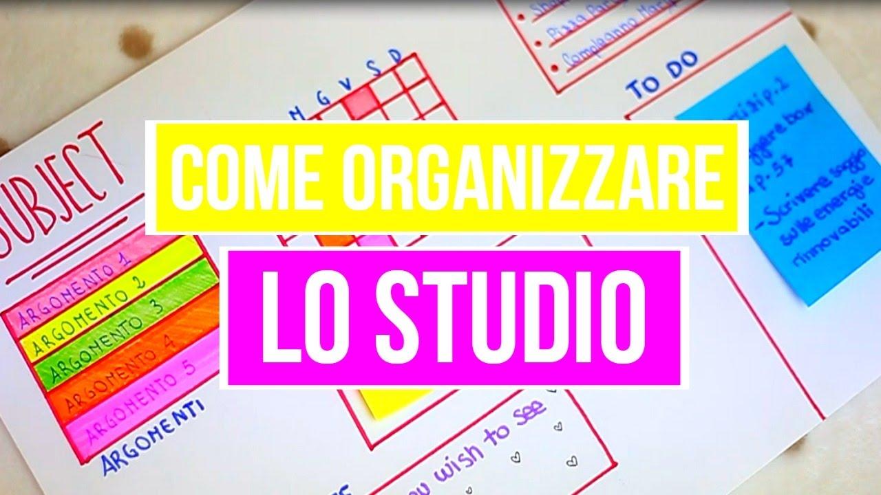 Come Personalizzare Lo Studio : Come organizzare lo studio youtube