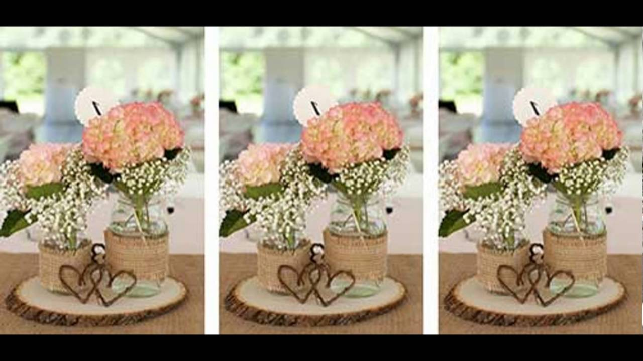 Como decorar seu casamento simples e barato (faça voc u00ea mesma) ) YouTube -> Decoração De Mesa De Casamento Barato