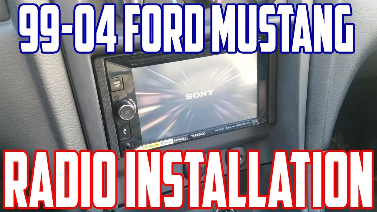 hight resolution of  how to install a double din radio in a 99 04 mustang youtube alpine alpine amps wiring harness alpine amp
