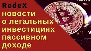 RedeX новости о легальных инвестициях пассивном доходе