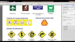 Señales de tráfico para tu examen del DMV en California.(Ley AB 60).Version  Mejorada.