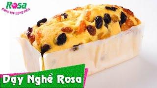 Cách làm bánh Cake Nho - Raisin Butter Cake