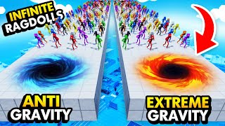 EXTREME GRAVITY vs ANTI GRAVITY With INFINITE RAGDOLLS (Fun With Ragdolls: The Game Funny Gameplay)