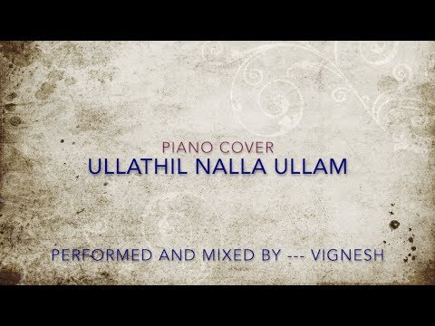 KARNAN - Ullathil Nalla Ullam - Piano Cover - Lyric Video