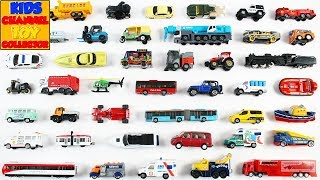Learn Vehicles For Kids Children Babies Toddlers | Taxi School Bus Trucks | Kids Learning Video
