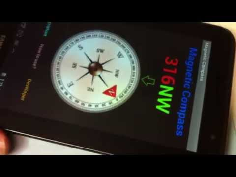Magnetic Compass Application Android for orientation through the Earth