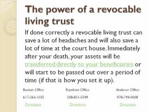 The revocable living trust