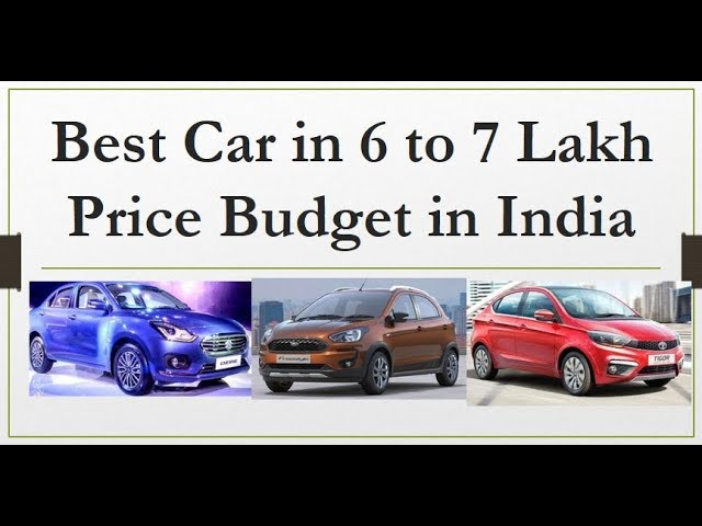 Best Cars In 6 Lakh To 7 Lakh Price Range In India 100 Value Buy Youtube