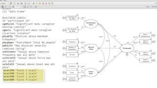 Complex SEM model using Onyx (Krstic, Knight, Robertson 2015 dataset)