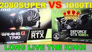 MSI RTX 2080 Super Gaming X Trio Reviewed vs EVGA GTX 1080 TI