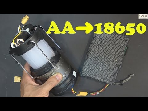 DIY: LED Lantern hack: from AA to 18650 Li-ion & Install more LED's