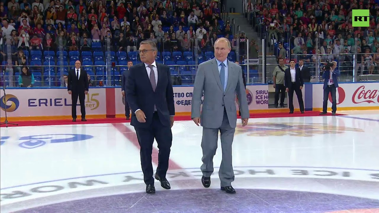 Выступление Путина на открытии Кубка мира по хоккею среди юниоров до 20 лет