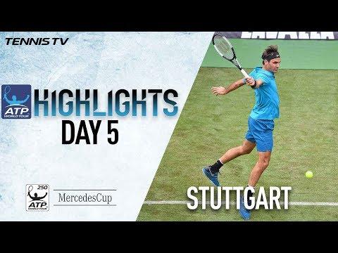 Highlights: Federer Survives Stuttgart Scare