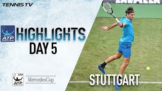 Highlights: Federer Survives Stuttgart Scare