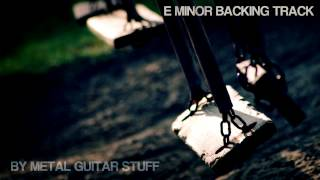 Sad E Minor Guitar Backing Track [ Rock Metal Ballad ]
