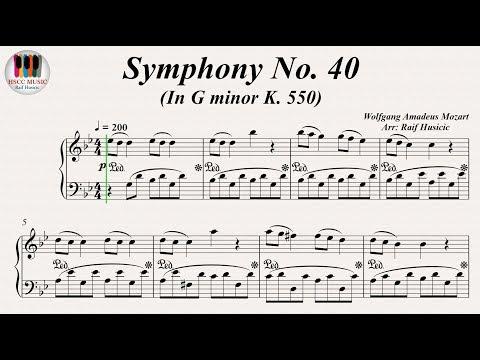 Symphony No. 40 In G minor KV. 550 - Wolfgang Amadeus Mozart, Piano