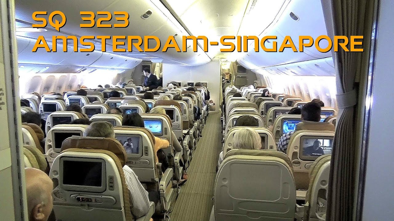 Amsterdam Naar Singapore Singapore Airlines Boeing 777 312er 9v Swh Flight Sq323 Amsterdam To Singapore