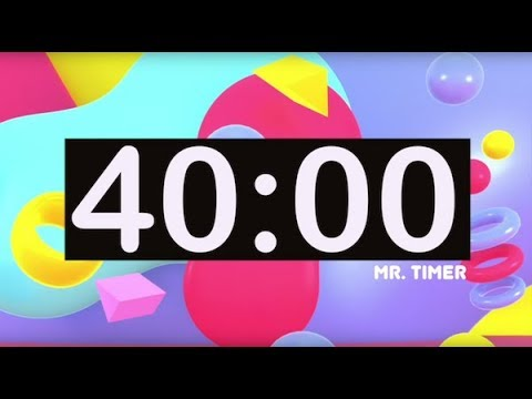 40 Minute Countdown Timer With Music For Kids Cl Room Children Dance Learn Study Play