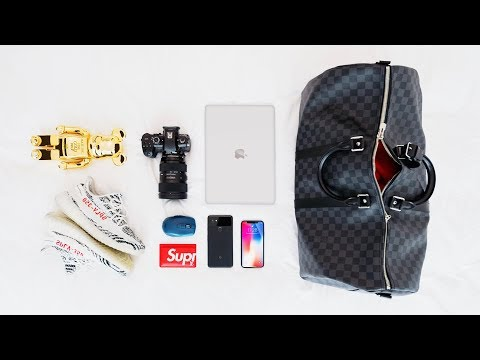 WHAT'S IN MY TRAVEL BAG   2017 (LA Edition)