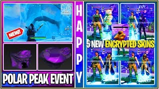 *NEW* Fortnite Update! 5 Encrypted Leaked Skins, Leaked Live Polar Peak/Greasy Event + Sound FX!