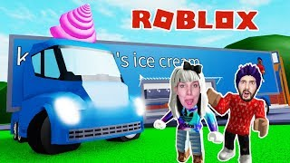 Roblox: THE RIESEN EIS Truck! - Nina & Kaan are multimillionaires through ice cream sale - Ice Cream Van